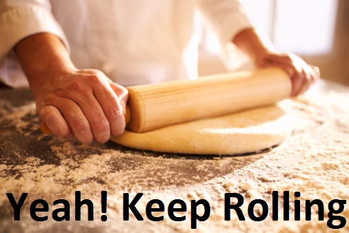 Chef rolling dough